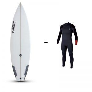 Alquiler de tabla + traje de Surf (1 día)